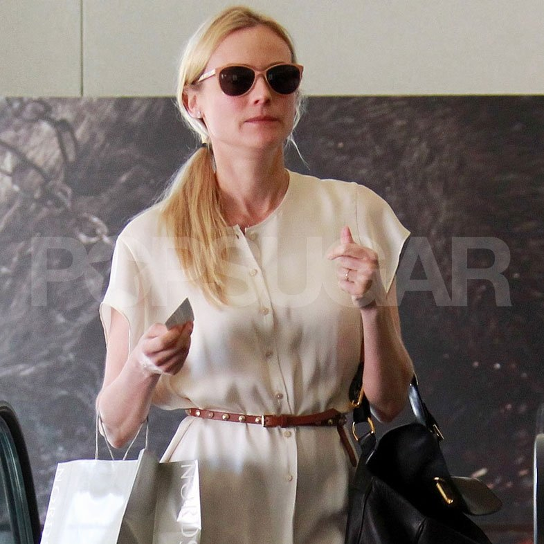 Diane Kruger went shopping.