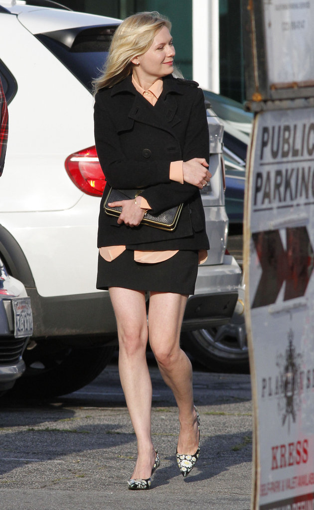 Kirsten Dunst in costume for The Bling Ring.