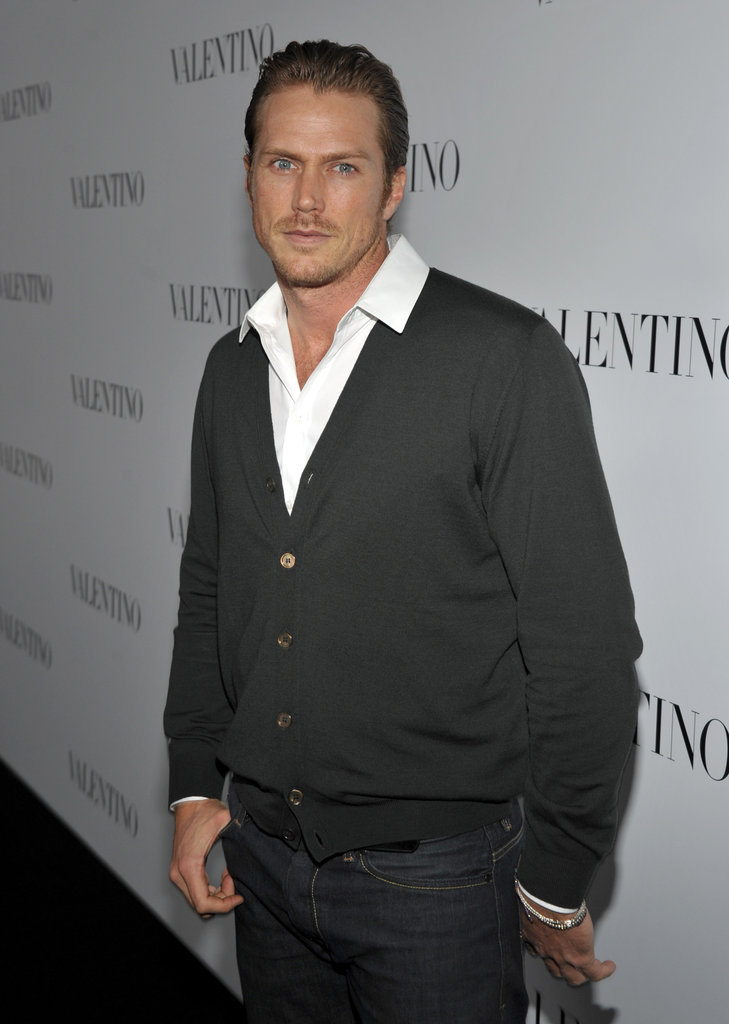 Jason Lewis attended Valentino's 50th anniversary party in LA.