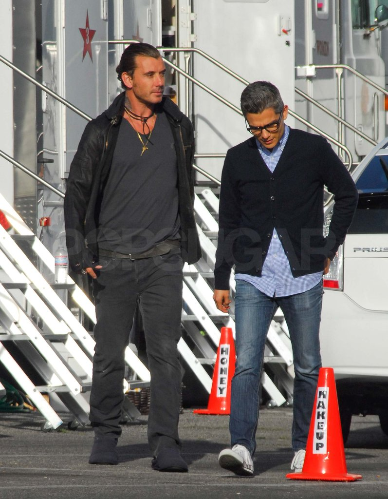 Gavin Rossdale was on set in LA.