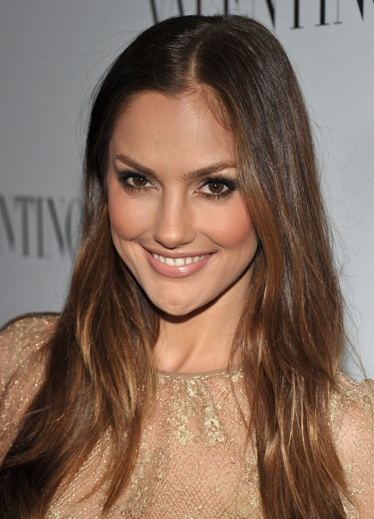 Minka Kelly smiled at the celebrations for Valentino's 50th anniversary in LA.