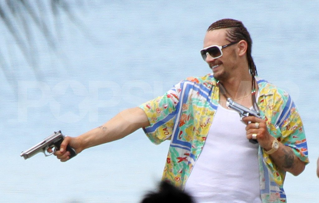 James Franco shot Spring Breakers.
