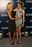 Brooklyn Decker and Rihanna had fun at a photocall for Battleship in London.