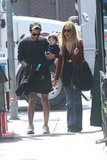 Joey Maalouf held Skyler Berman as he and Rachel Zoe headed to lunch in LA.