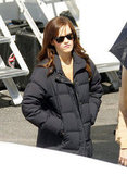 Emma Watson on set in LA.