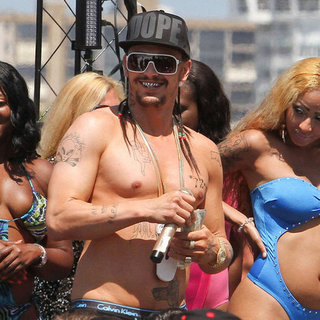 Shirtless James Franco Shooting Spring Breakers Pictures