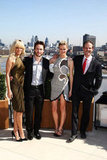 Rihanna, Taylor Kitsch, Brooklyn Decker, and director Peter Berg posed  for a photocall for Battleship in London.