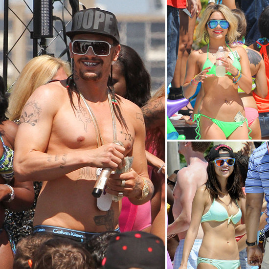 Shirtless James Franco Joins Selena and Vanessa's Spring Break Bikini Fun