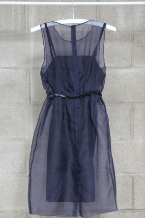 The sheer organza on this little frock makes it feel way more expensive than it actually is — perfect for date night or cocktails.  Mikkat Market Navy Organza Dress ($62)
