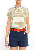 Upgrade your polo fare with a denim collar and colorful stripes. Mango Slim-Fit Polo T-Shirt in Stripes ($19)