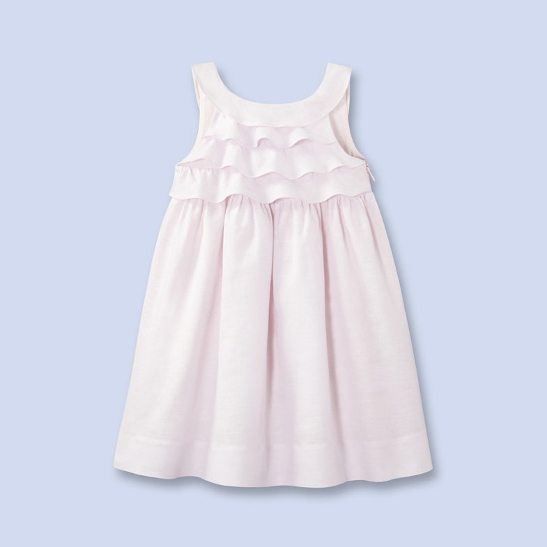 Jacadi Ruffled Cotton-Linen Dress ($149)