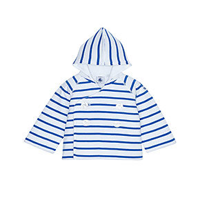 Petit Bateau Baby Sailor Striped Hooded Jacket ($84)