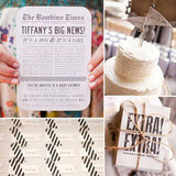 Divine Vintage Newsprint Shower For Layla Grayce's Founder