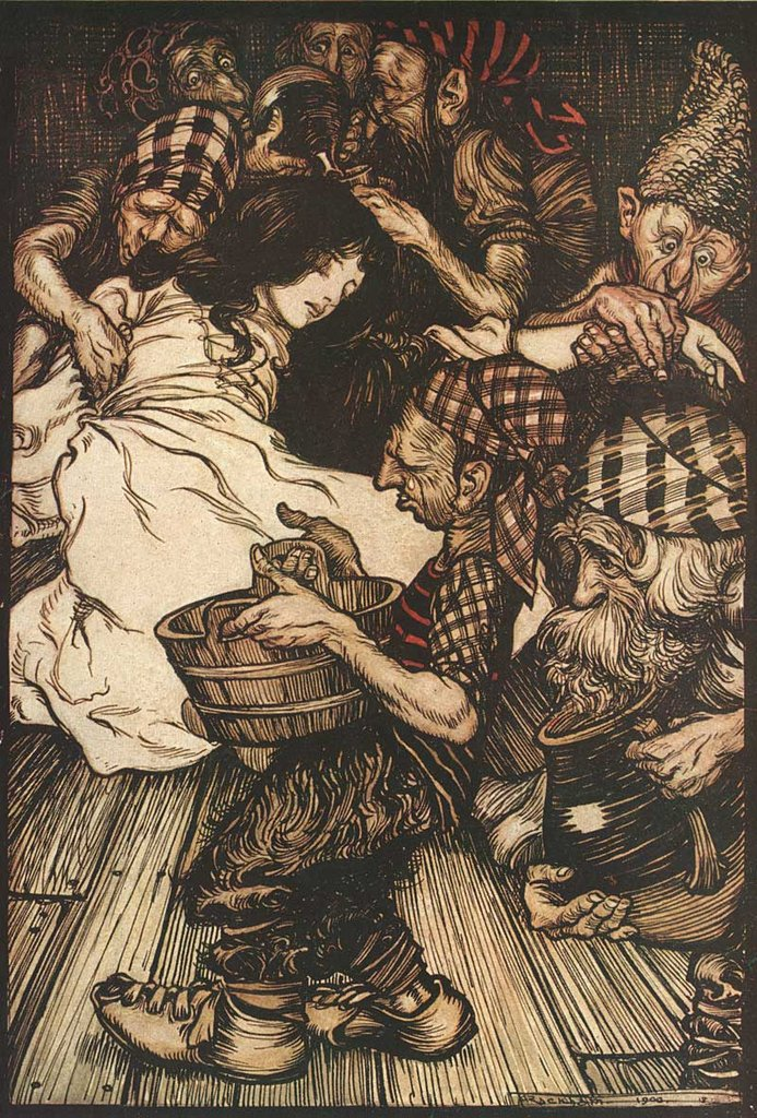 Snow White by Arthur Rackham, 1909