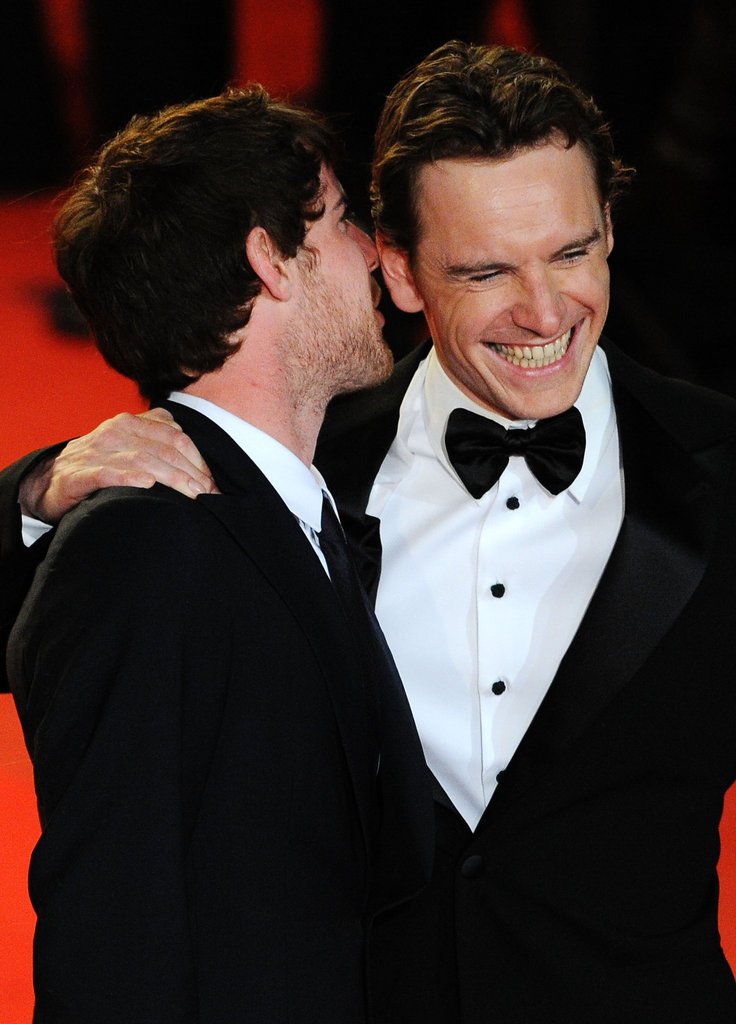 Something was silly for Michael Fassbender and his Fish Tank costar Harry Treadaway in May 2009.