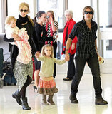 Nicole Kidman and Keith Urban took Faith and Sunday with them on a flight back to America for the Academy of Country Music Awards.