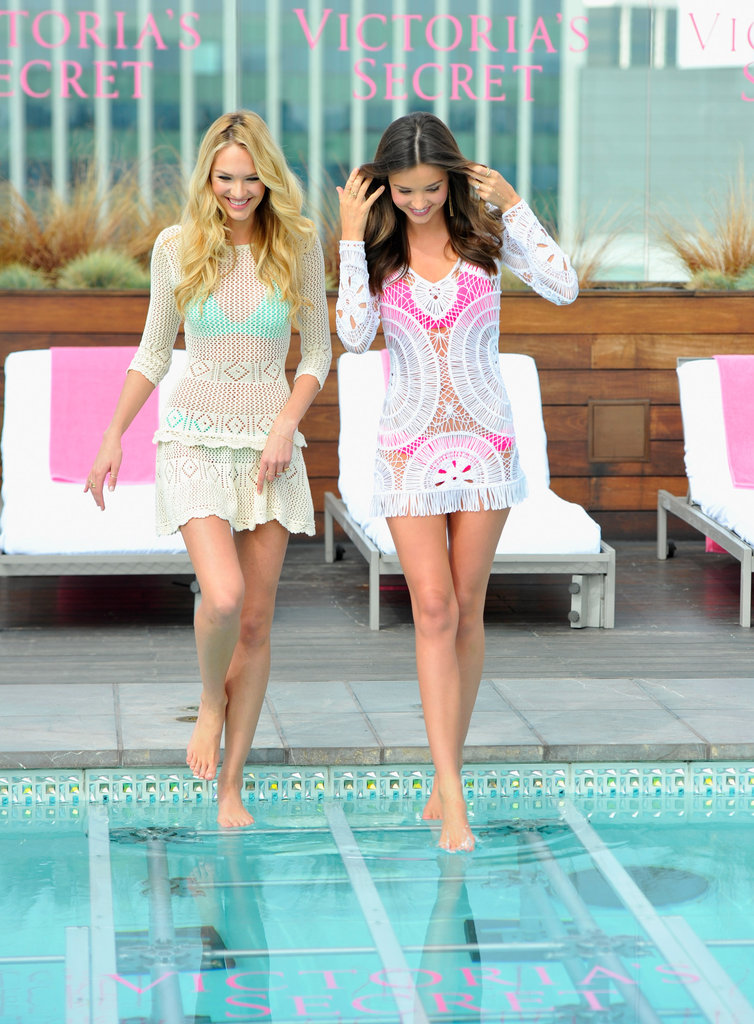 Miranda Kerr and Candice Swanepoel Cover Up Their Very Sexy Bikini Bodies