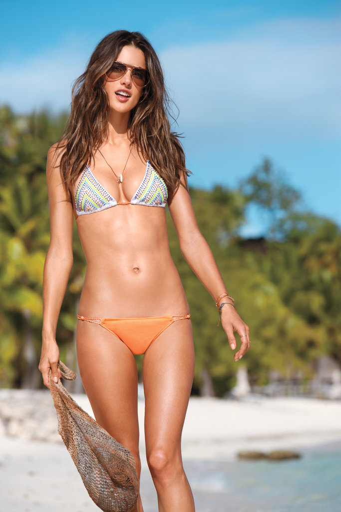Alessandra Ambrosio posed in her bikini for a Victoria's Secret campaign in early 2012.