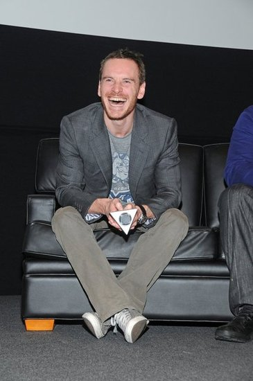 Michael Fassbender showed his pearly whites during a Shame event in San Francisco during November 2011.