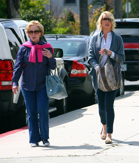 Katherine Heigl walked to lunch with her mom.