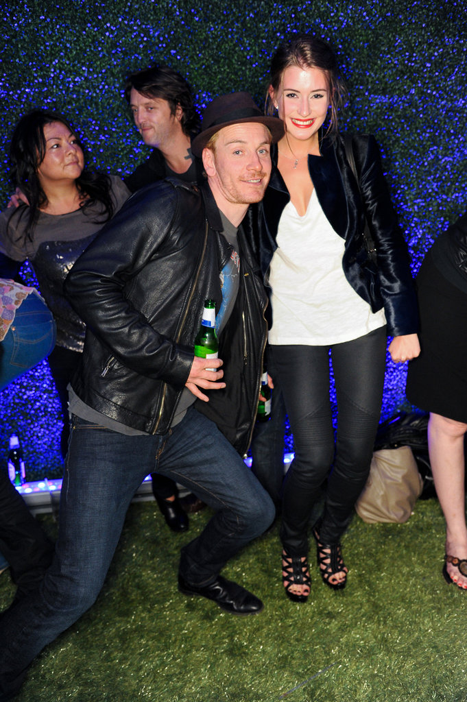 Michael Fassbender was the life of the party at a July 2011 event in London.