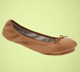 You can never go wrong with a camel-hued bow-tie flat — it's chic and timeless. Did we mention it comes with a handy little drawstring bag for stowing away stealthily? Gap Bow City Flats ($40)