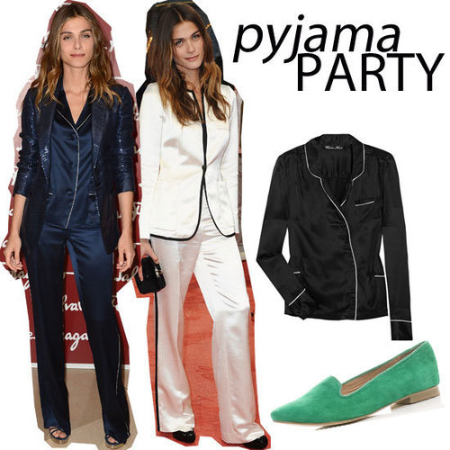 It's All About Pyjama Dressing: Elisa Sednaoui Wears The Sleepwear Trend on the Red Carpet