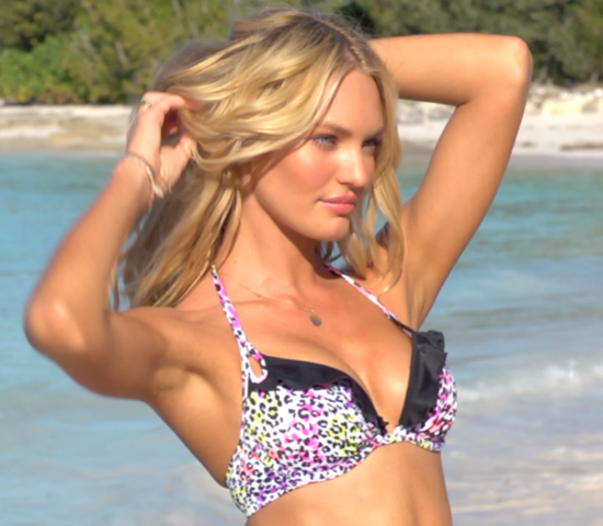 Candice Swanepoel Bikini Video Victoria&#039;s Secret Swim 2012