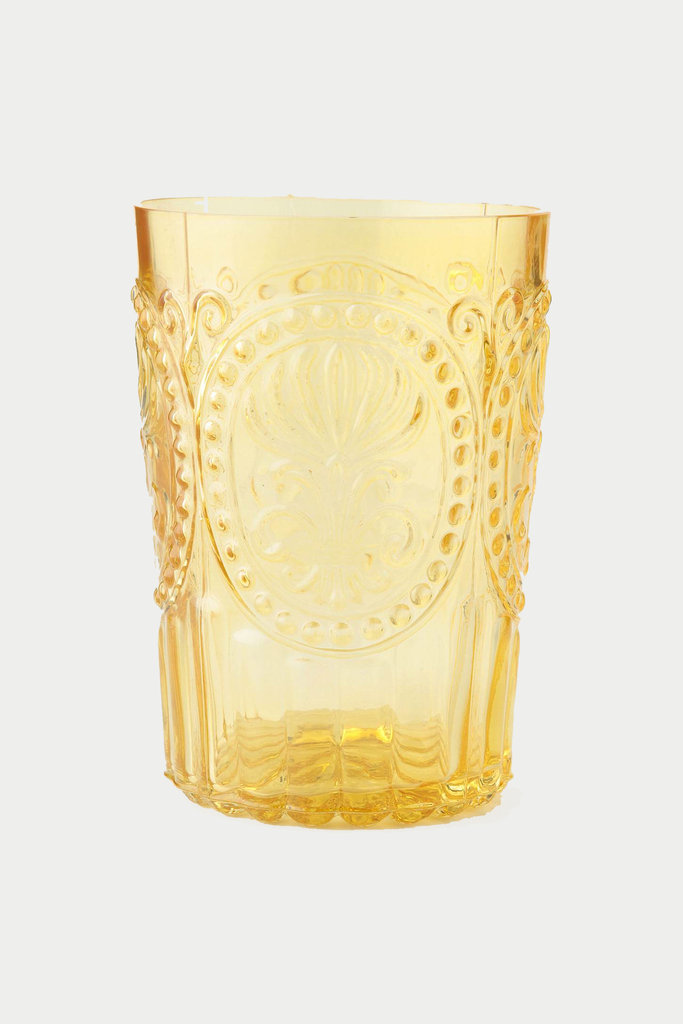 Keep things light and sunny with the Fleur-De-Lys Tumbler ($8), a great Spring pick made with tinted glass.
