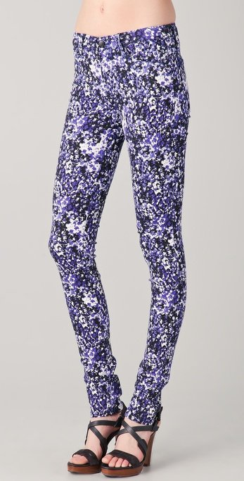 Joe's Jeans Electric Blue Pop Art Daisy Skinny Jeans ($179)
