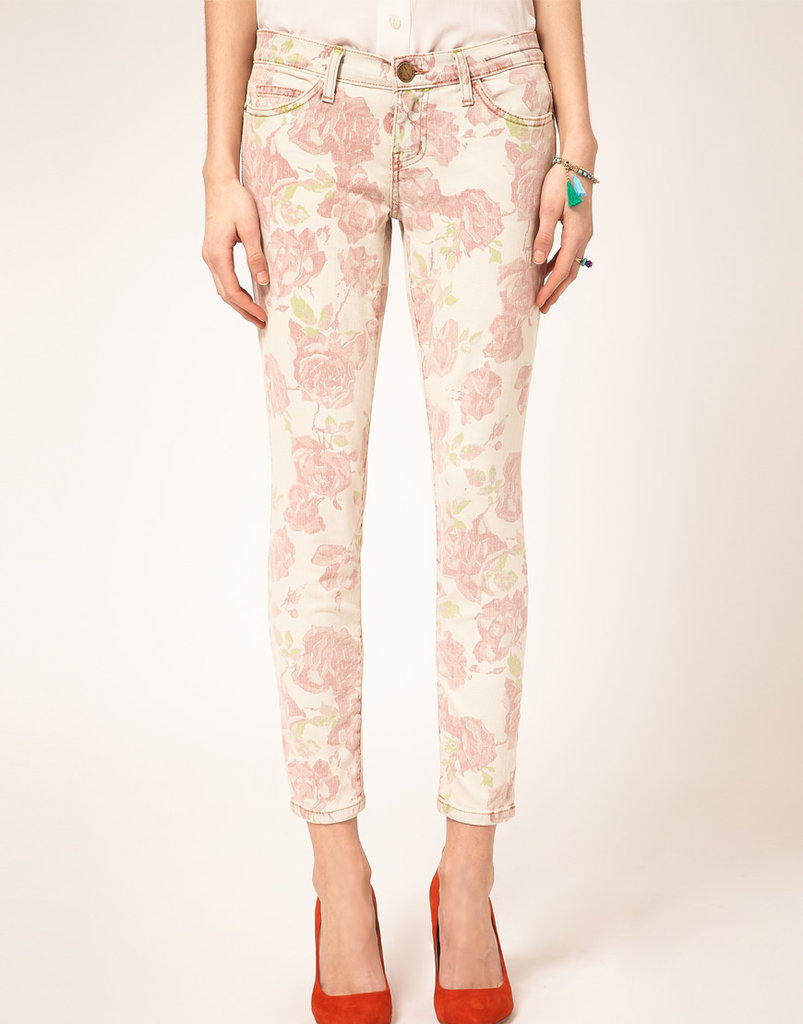 Current/Elliott Stiletto floral jeans ($331)