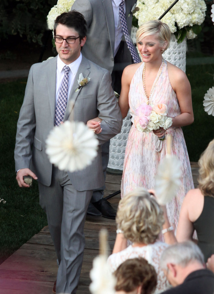 "Ashlee Simpson walked down the aisle as a pal said ""I do"" in Palm Springs in March 2012."