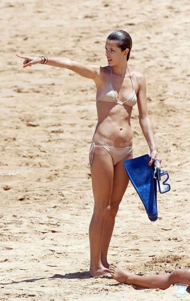 Alessandra Ambrosio enjoyed a family vacation on the beaches of Hawaii in July 2012.