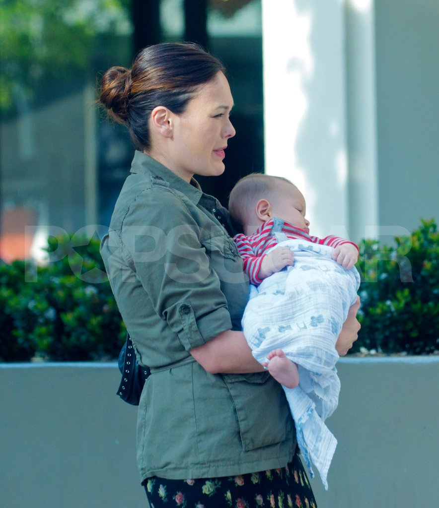 Lindsay Price with son Hudson Stone shopping in LA.