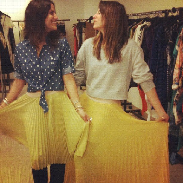 How sweet are these matching BCBG skirts? We want one!