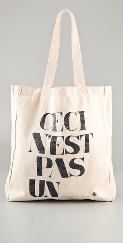 Maison Scotch Ceci N&#039;est Pas Un Canvas Tote