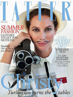 Christy Turlington Sports a Moustache on the Cover of Tatler Magazine and Still Looks Gorgeous