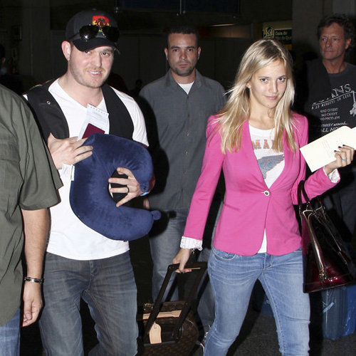 Michael Buble and Luisana Lopilato Pictures in Brazil