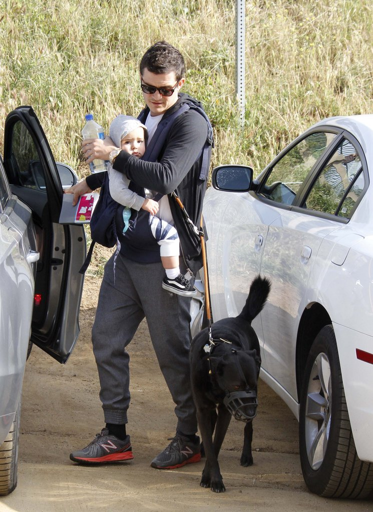 Orlando Bloom Takes a Hike in LA With Son Flynn