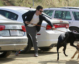 Orlando Bloom and dog Sidi went out in LA.