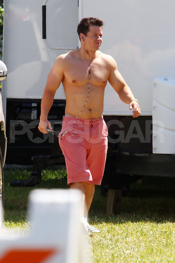 Mark Wahlberg shirtless.
