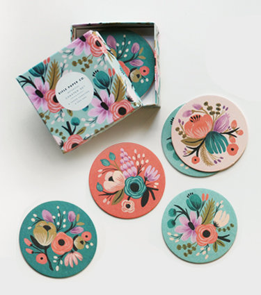 Botanical Coaster Set