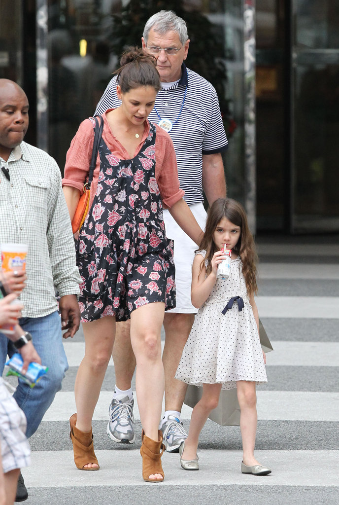 Katie Holmes and her parents were out in Louisiana with Suri.