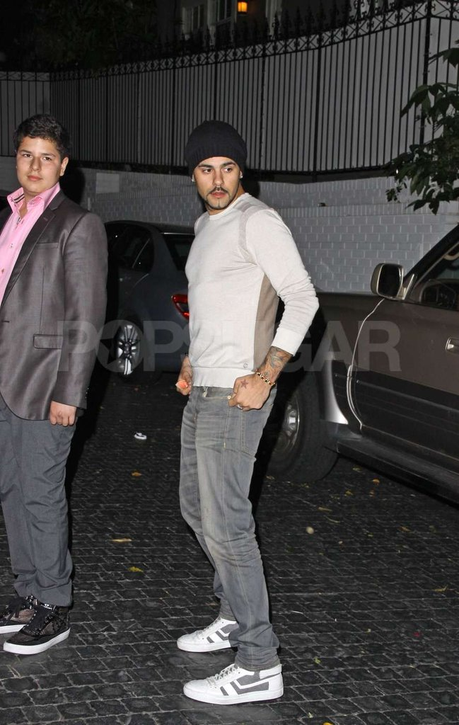 Eduardo Cruz was seen leaving  the Chateau Marmont with Eva Longoria.