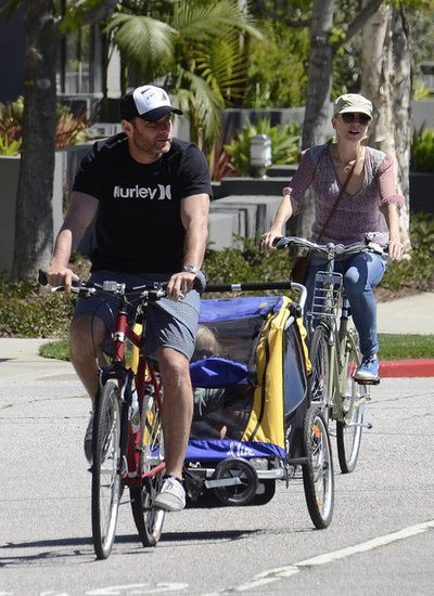 Naomi Watts and Liev Schreiber Ride Bikes With Their Boys