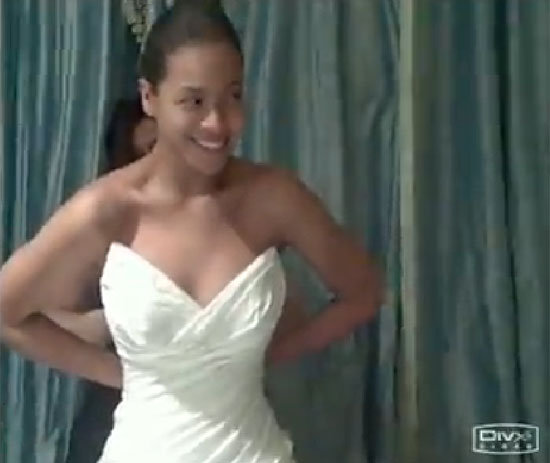 "Beyoncé Knowles shared a photo of her wedding dress for her April 2008 wedding to Jay Z in her 2011 ""I Was Here"" video."