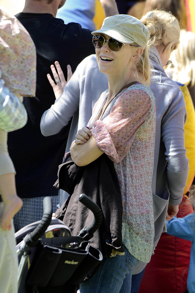 Naomi Watts was looking cute and casual at the farmers market in Brentwood.