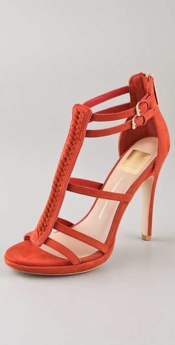 The juxtaposition of the braided bar and gladiator-inspired straps are super sexy. Dolce Vita Camila T-Strap Sandals ($180)