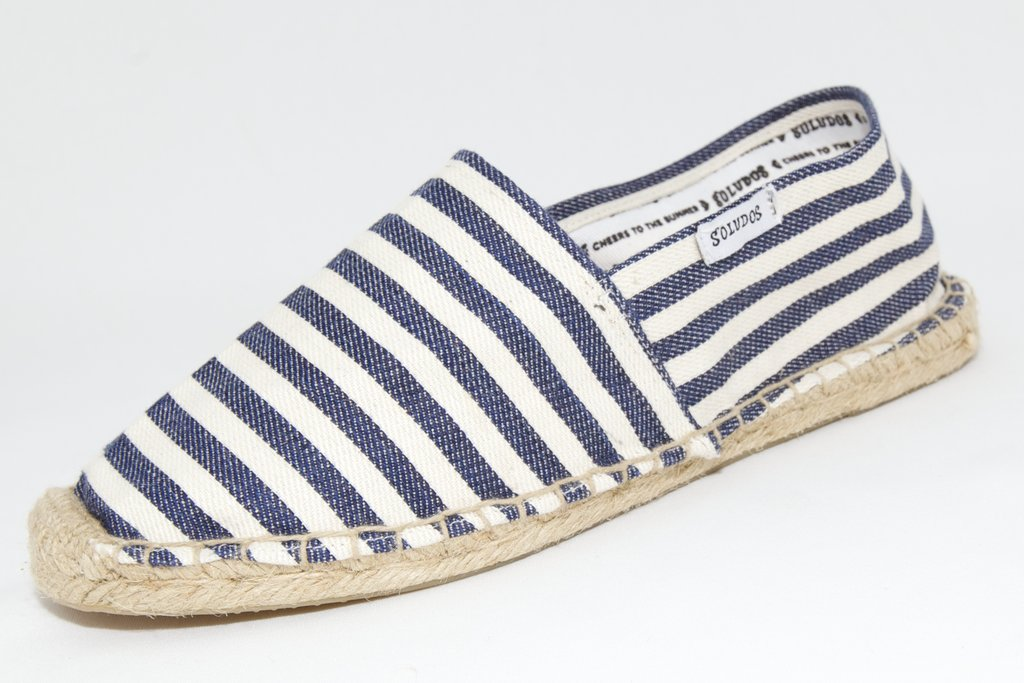 We love this striped pair — also available on Soludos.com. Soludos For J.Crew Classic Espadrilles in Navy White Stripe ($36)
