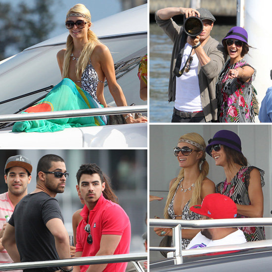 Paris Hilton, Sharni Vinson, Kellan Lutz, Joe Jonas and More Check Out Sydney's Sights on a Boat